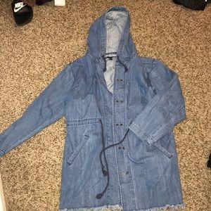 Never worn denim over jacket